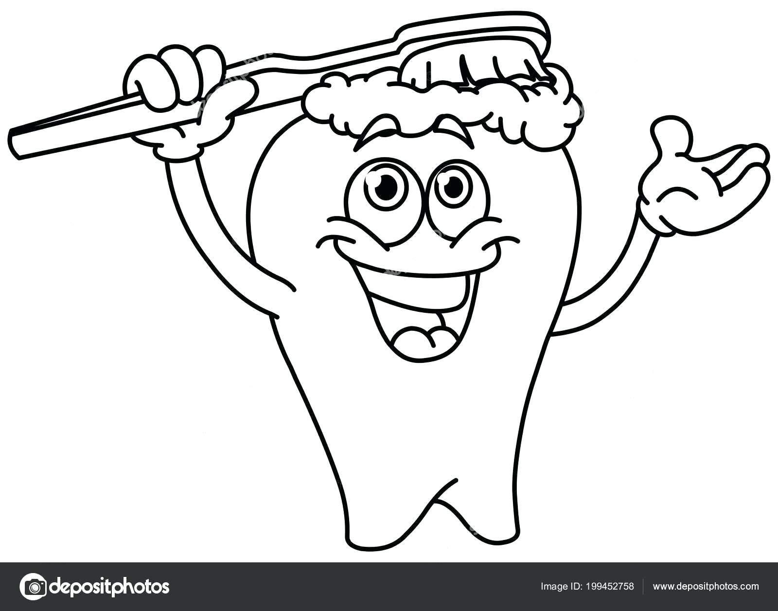 16 Coloring Page Brushing Teeth
