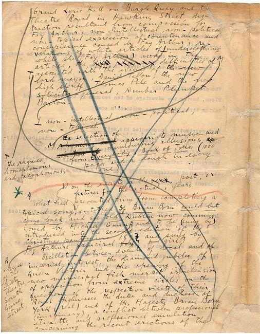 Frammento del manoscritto dell\' \