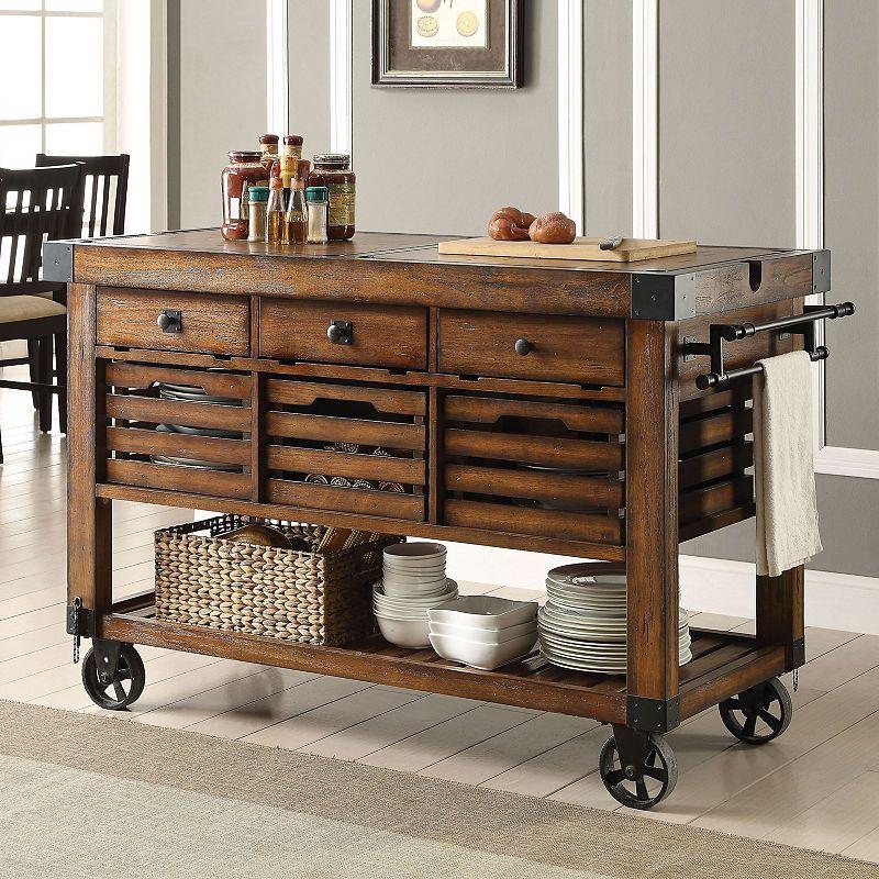 Kaif Wood Top Kitchen Cart Kitchen Remodel Kitchen Design Kitchen Cart