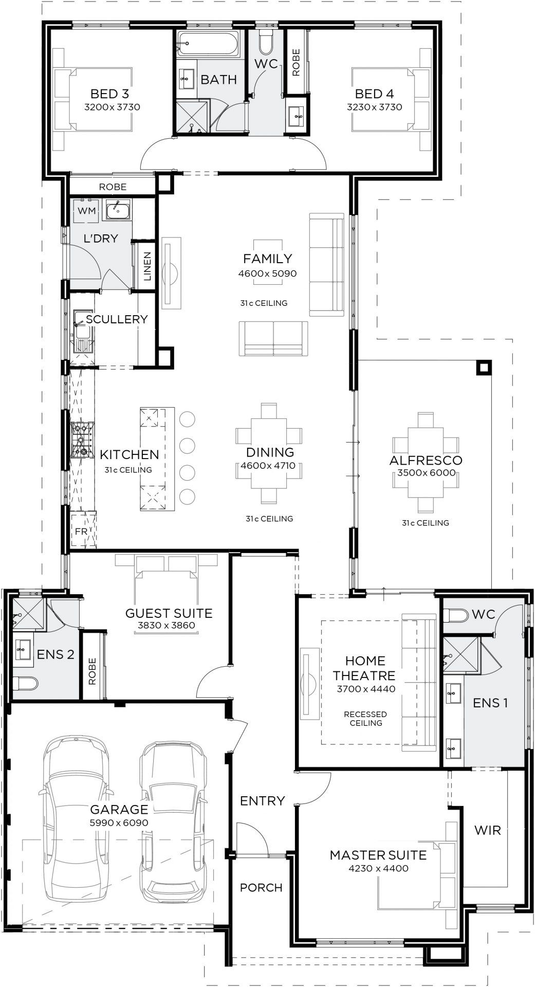 Stefano Gemmill Homes House Plans Australia Home Design Floor Plans 4 Bedroom House Plans