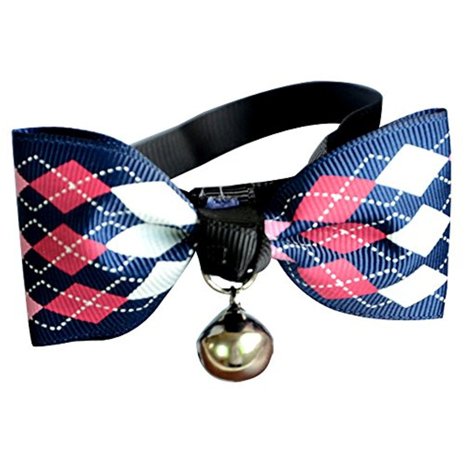 Gilroy Pet Adjustable Bow Tie with Bell Necktie Collar for