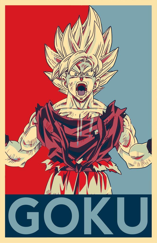 Son Goku Dragon Ball Illustration #4 – DBZ Manga Kakarot Anime Japanese Television Super Saiyan Pop Art Home Decor in Poster Print or Canvas