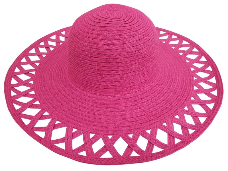 laides hats - summer wide brim - pink - boardwalk style  4e154af4b5e9