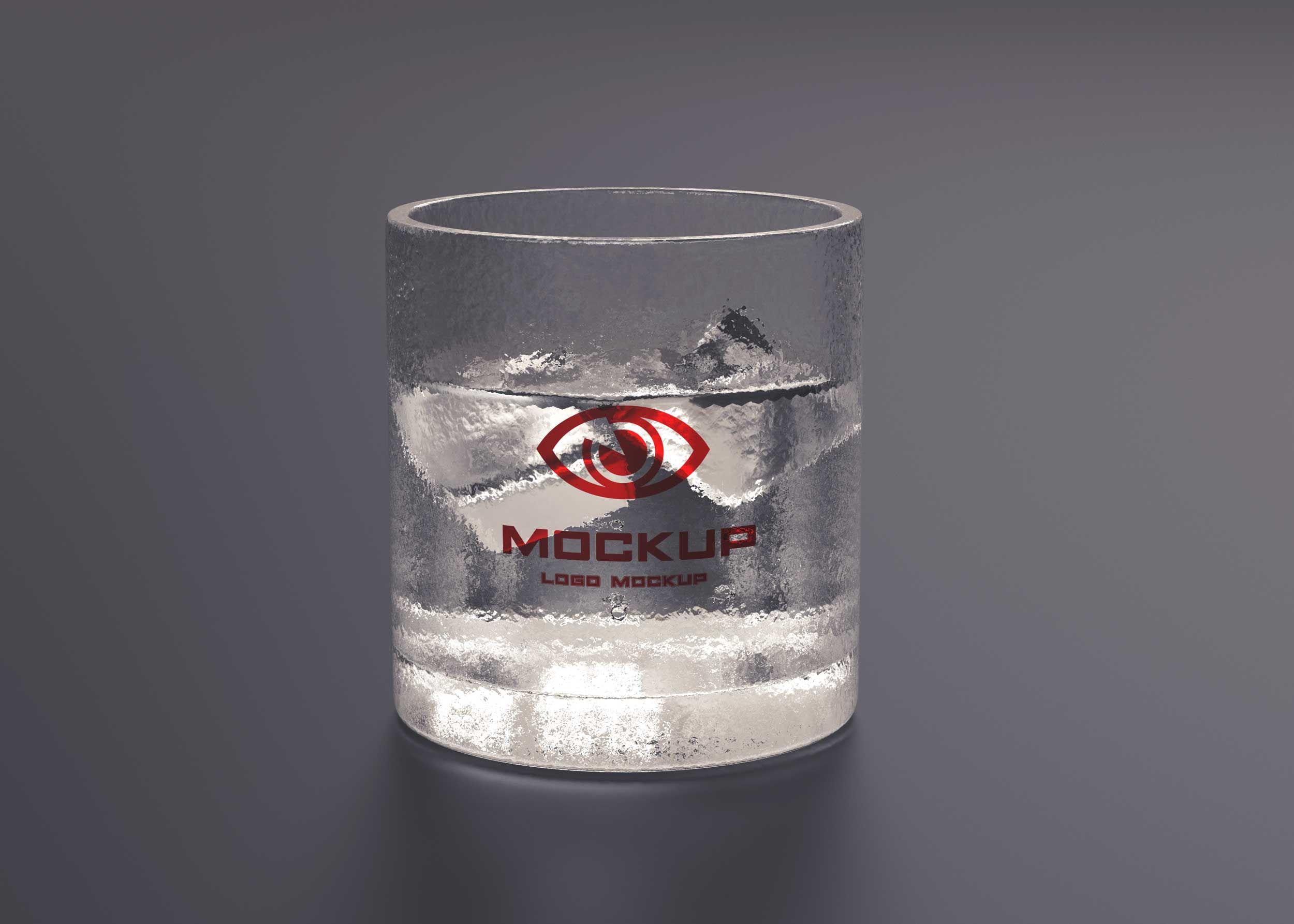 Ice Water Glass Free Psd Mockup Mockup Free Psd Free Mockup Free Logo Mockup