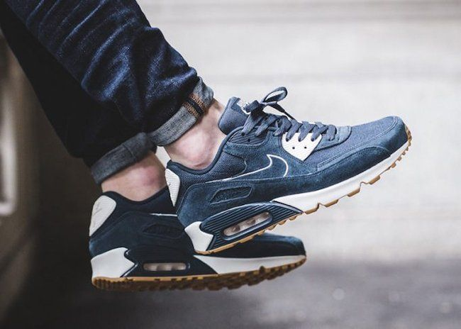 best authentic 9d0a2 dc56f Nike Air Max 90 Premium Armory Navy 700155-403   SneakerFiles http
