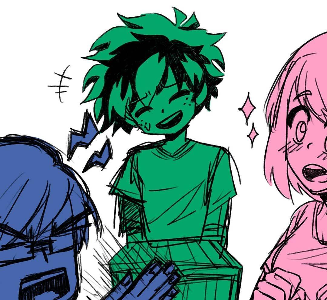 Fun Times 💗✨ (some BNHA sketches to pass the time)☆ #art #digitalart #anime #bnha #myheroacademia #izuku #iida #uraraka #todoroki #kaminari #mina #gentle #labrava