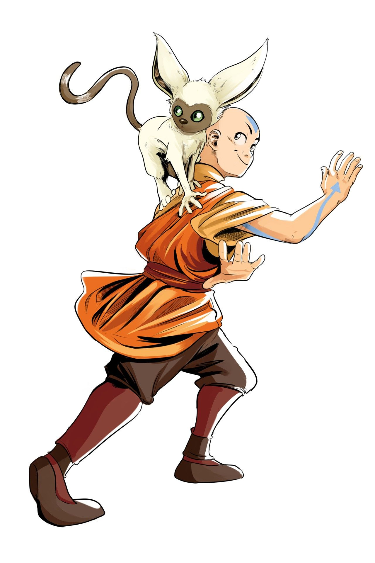 Aang Along With Momo In 2020 Avatar Airbender Avatar The Last Airbender Art Avatar The Last Airbender