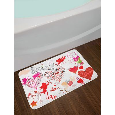East Urban Home A Love Bath Rug With Images Cotton Bath Rug