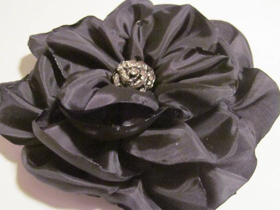 Beautiful Black Flower Fascinator by LeArts on Etsy,