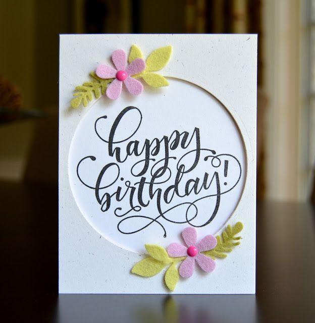 Handmade Card Washi Tape Birthday Card Embossed Cards Birthday Cards Diy Birthday Cards