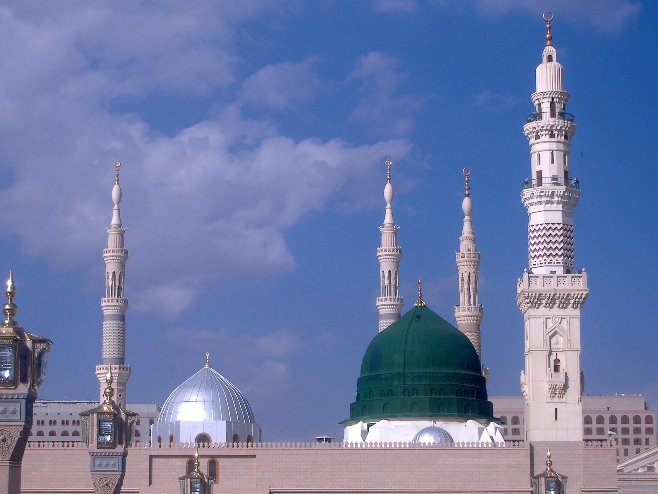 صورة عالية الجودة للتحميل المدينة المنورة Masjid Madina Mecca Wallpaper