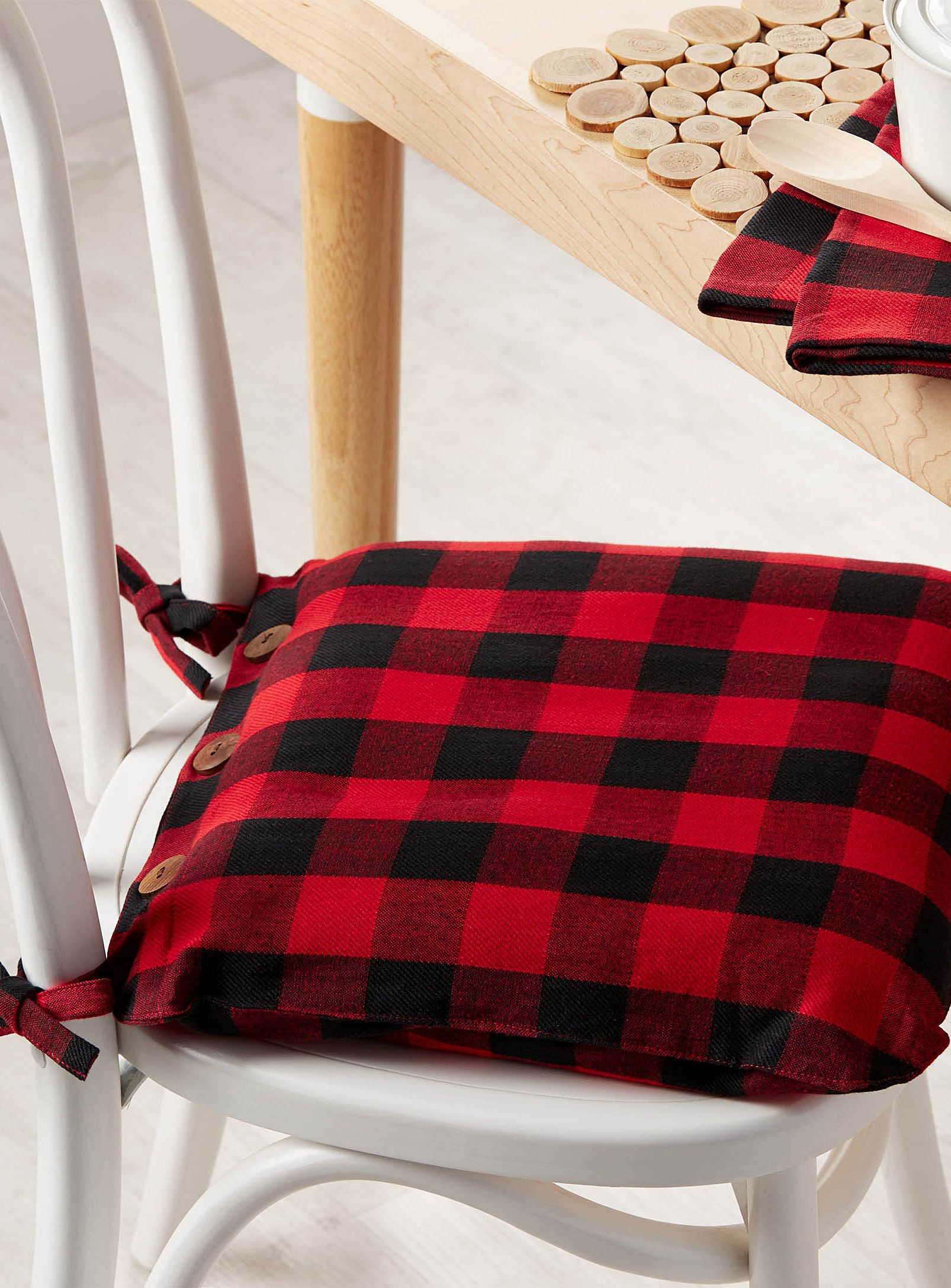 Buffalo Check Chairpad 40 X 40 Cm Plaid Decor Dining
