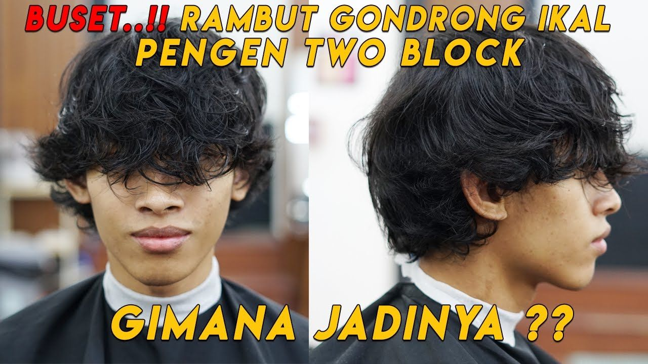 Rambut Gondrong ikal Pengen Model TWO BLOCK  KOREAN HAIRSTYLE