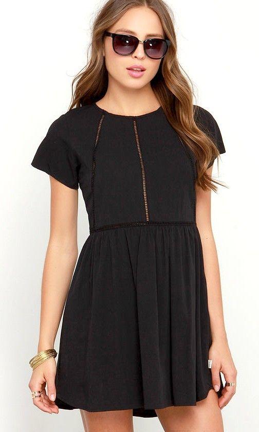 Rhythm My Tee Washed Black Dress | casual summer dress