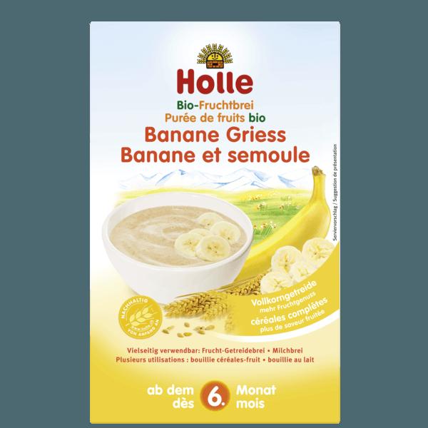 Holle Organic Fruit Porridge Banana Semolina 250g 6 Months Formuland Semolina Organic Fruit Vegetable Baby Food Recipes