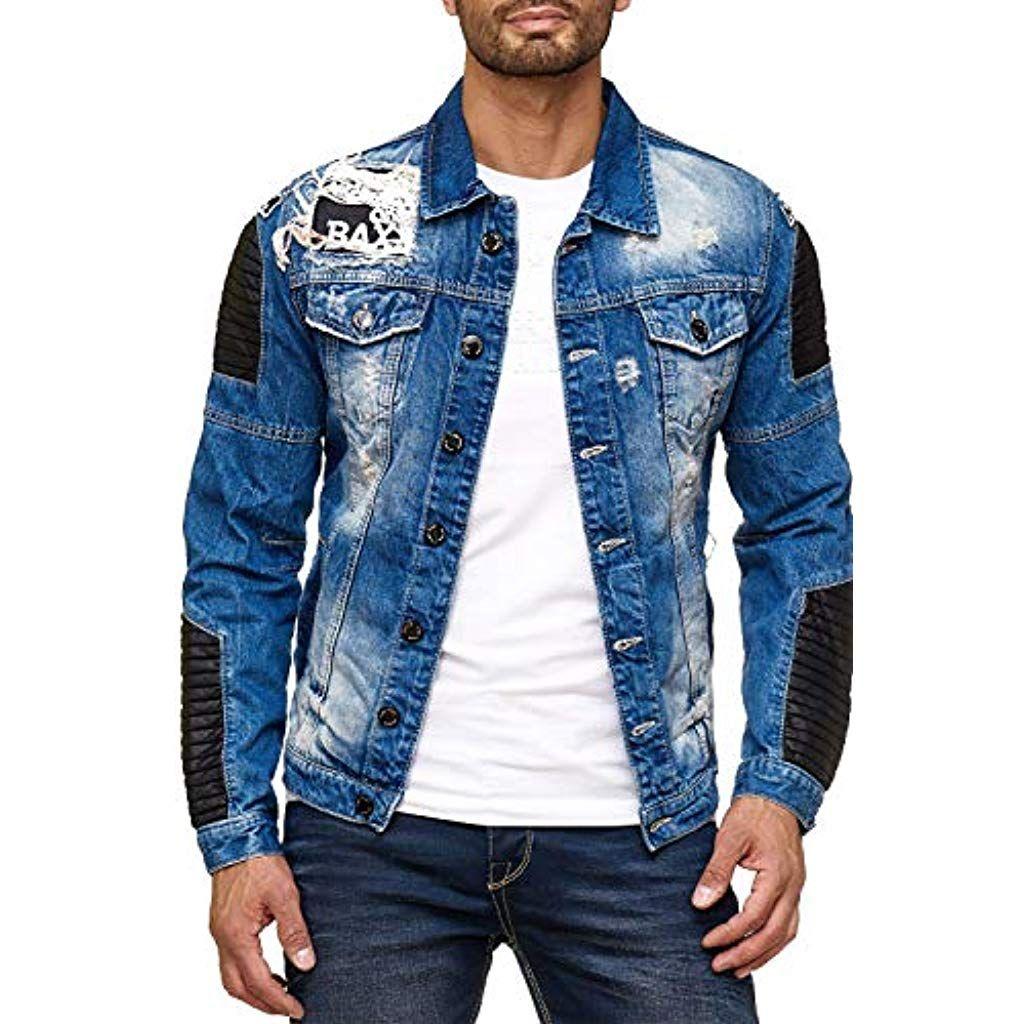 photos officielles ca816 b3124 Cipo Baxx Veste en Jean Destroy Homme #blazers ...
