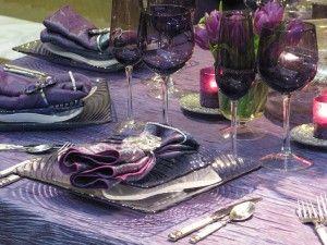 purple taffeta tablescapes - Google Search