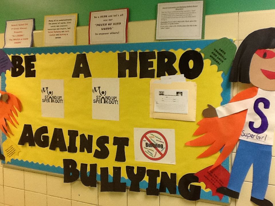 Be A Hero Against Bullying Interactive Bulletin Board for