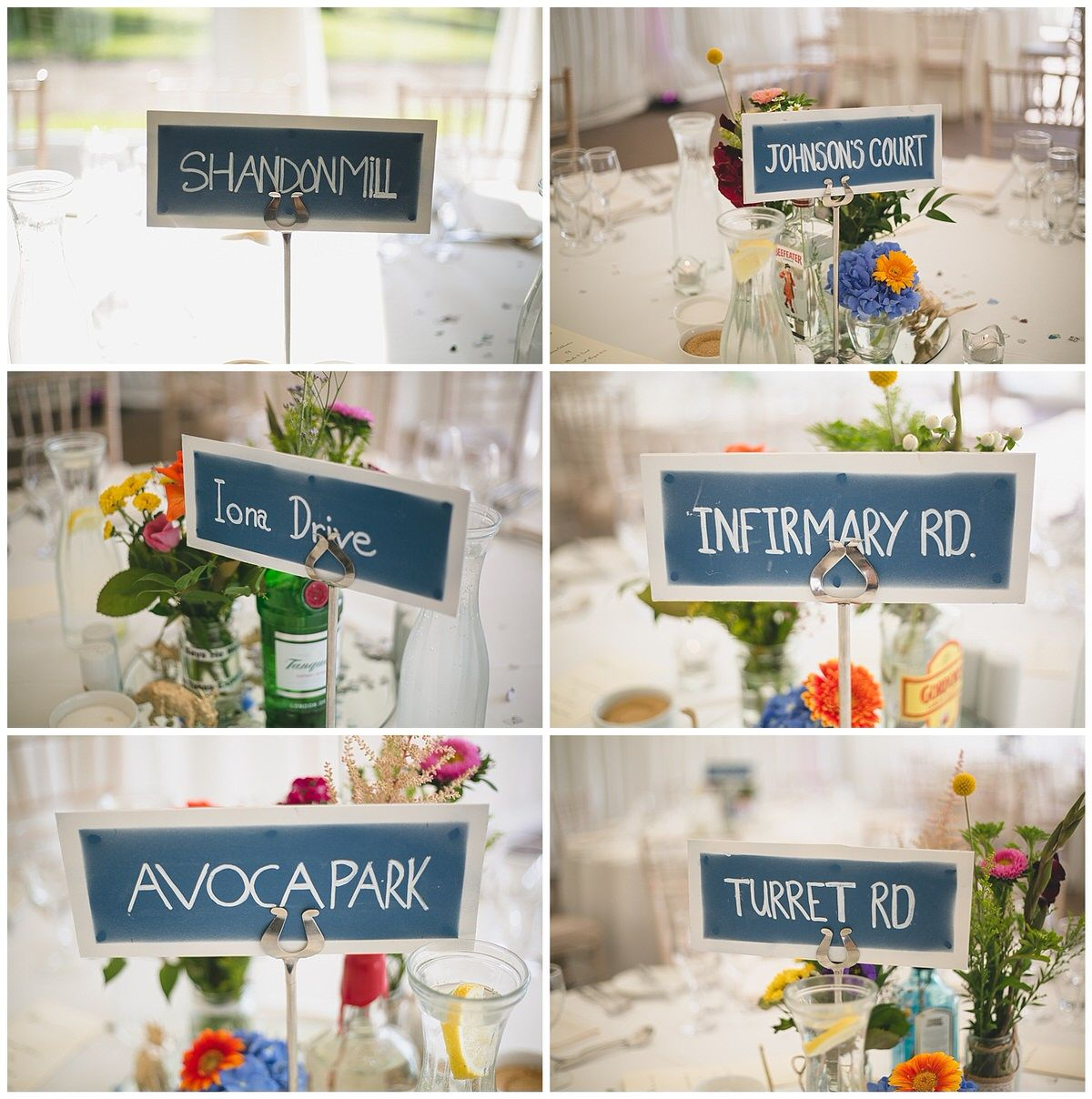Cool DIY Table Name Signs