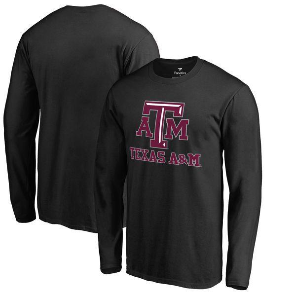 Texas A&M Aggies Fanatics Branded Team Lockup Big & Tall Long Sleeve T-Shirt - Black - $31.99