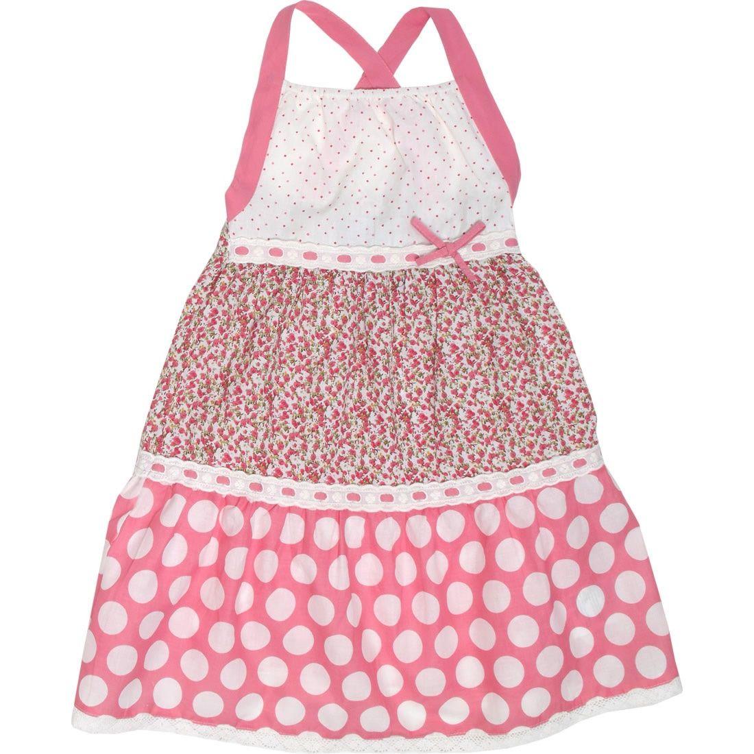 Oobi  Daisy tiered sundress - pink