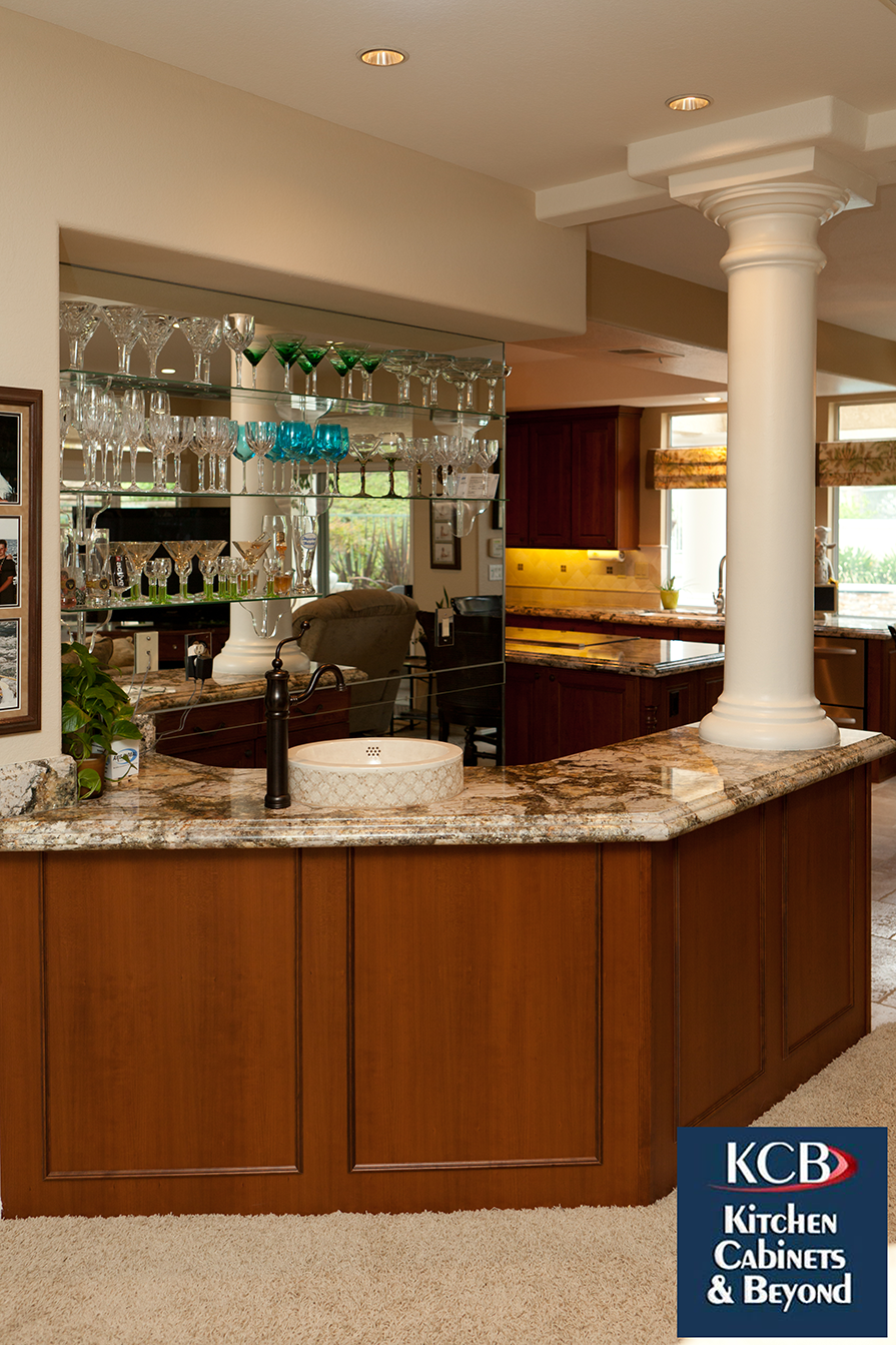 traditional kitchen with bar for entertaining. from kitchen cabinets