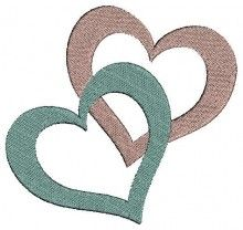 2 Hearts Combined - Machine Embroidery Designs