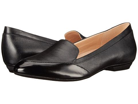 Womens Shoes Naturalizer Peace Black Leather/Shiny