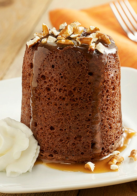 Salted Caramel Mug Cakes | Recipe | Cake recipes, Desserts ...