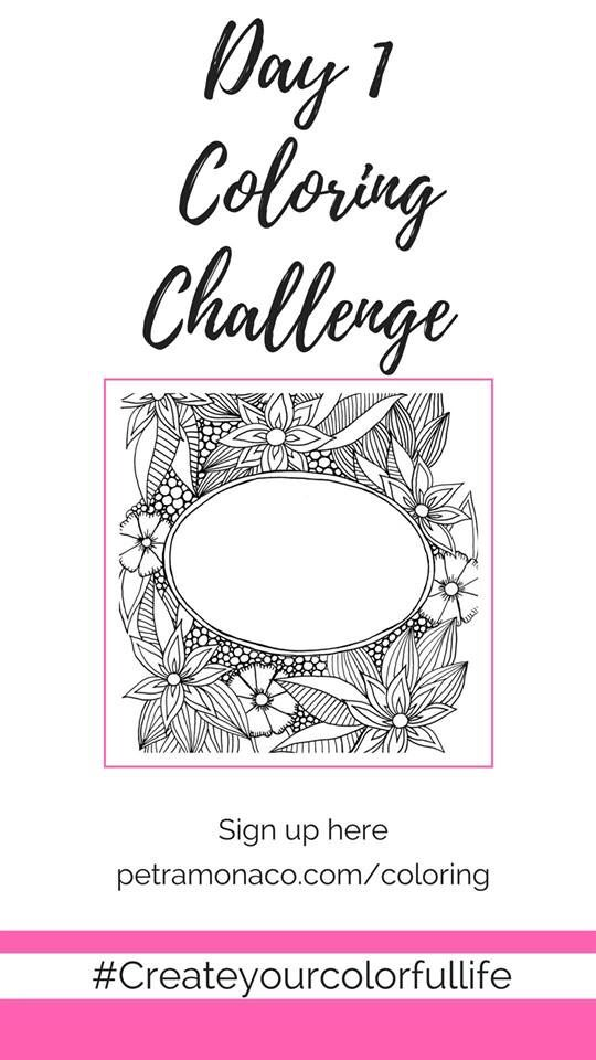 14 Day Coloring Page Challenge Coloring Color Challenges