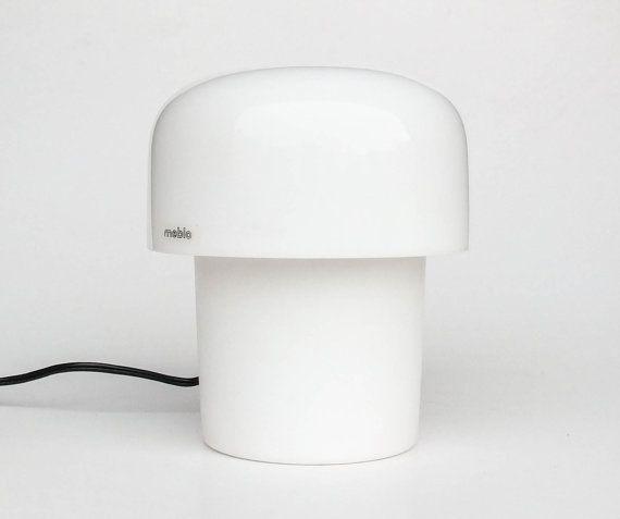 Mushroom Desk / Table Lamp By Meblo Guzzini / 70'S Design Classic