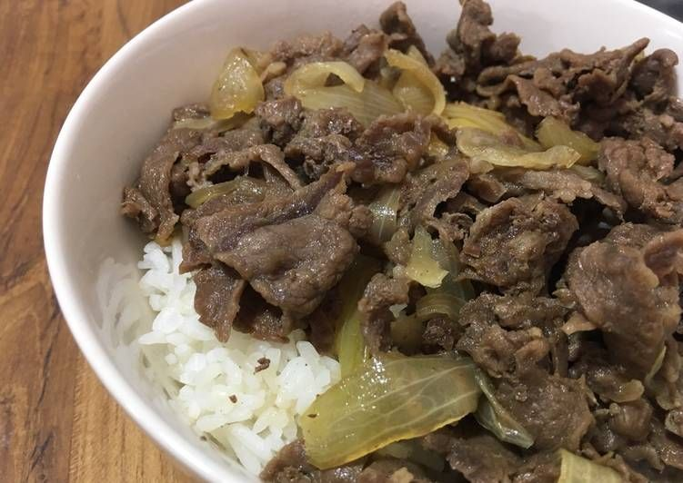 Resep Gyudon Beef Bowl Simple Mirip Yoshinoya Oleh Ekitchen Receita