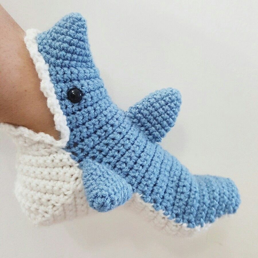 Fantastic Crochet Shark Booties Pattern Pictures - Blanket Knitting ...