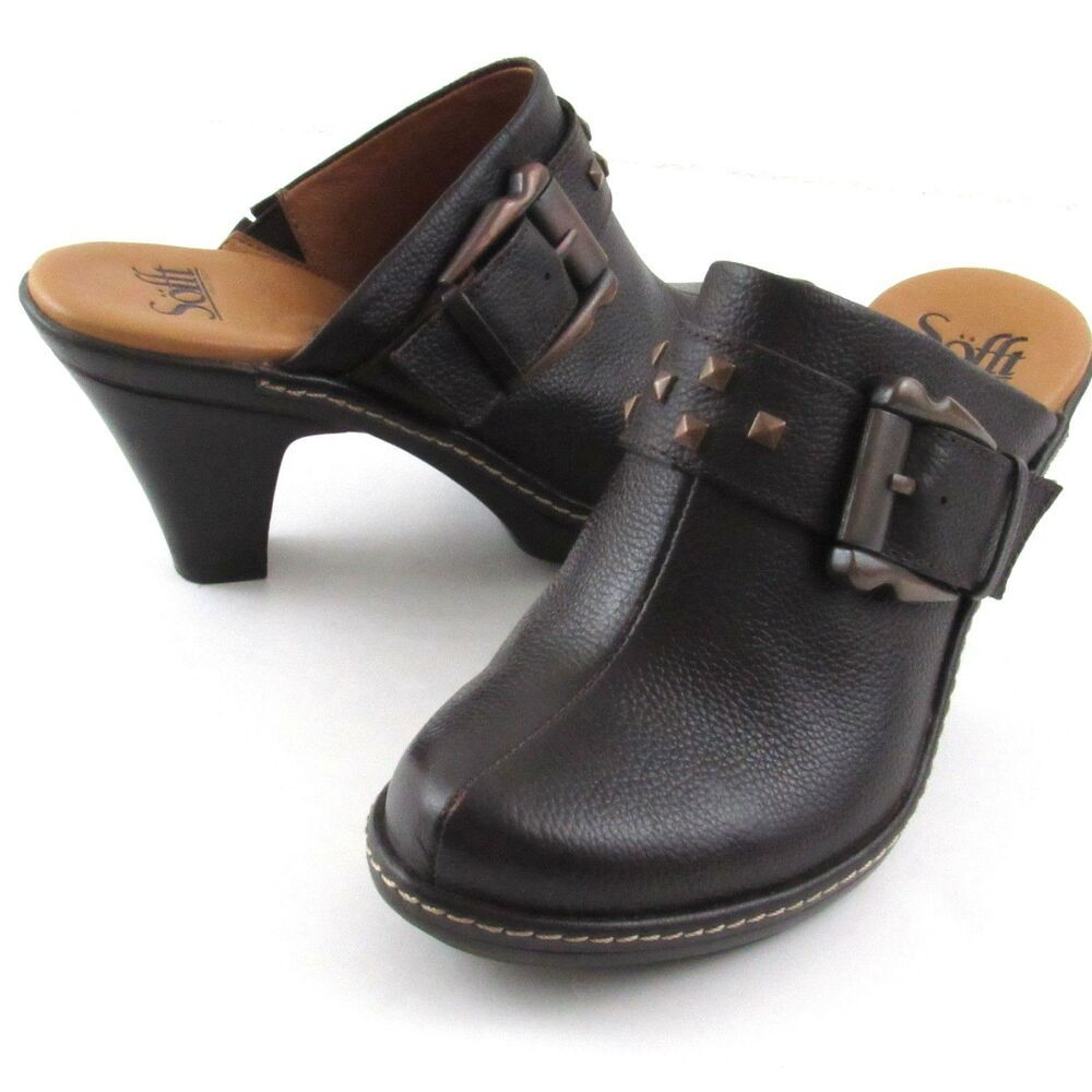 Rocky 4EurSole Black Leather 3 in 1 Work Nurse Comfort Clog Shoe NEW