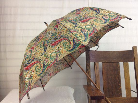 Your Place To Buy And Sell All Things Handmade Ladies Umbrella Vintage Ladies Paisley Print