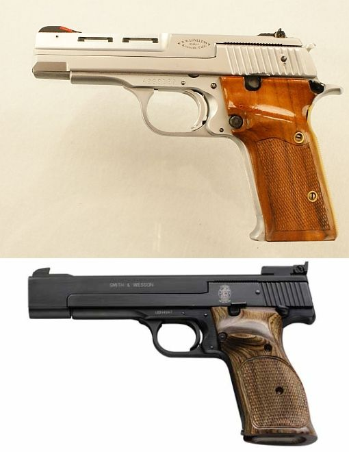 S&W Model 41 target pistol conversion by Bob Loveless