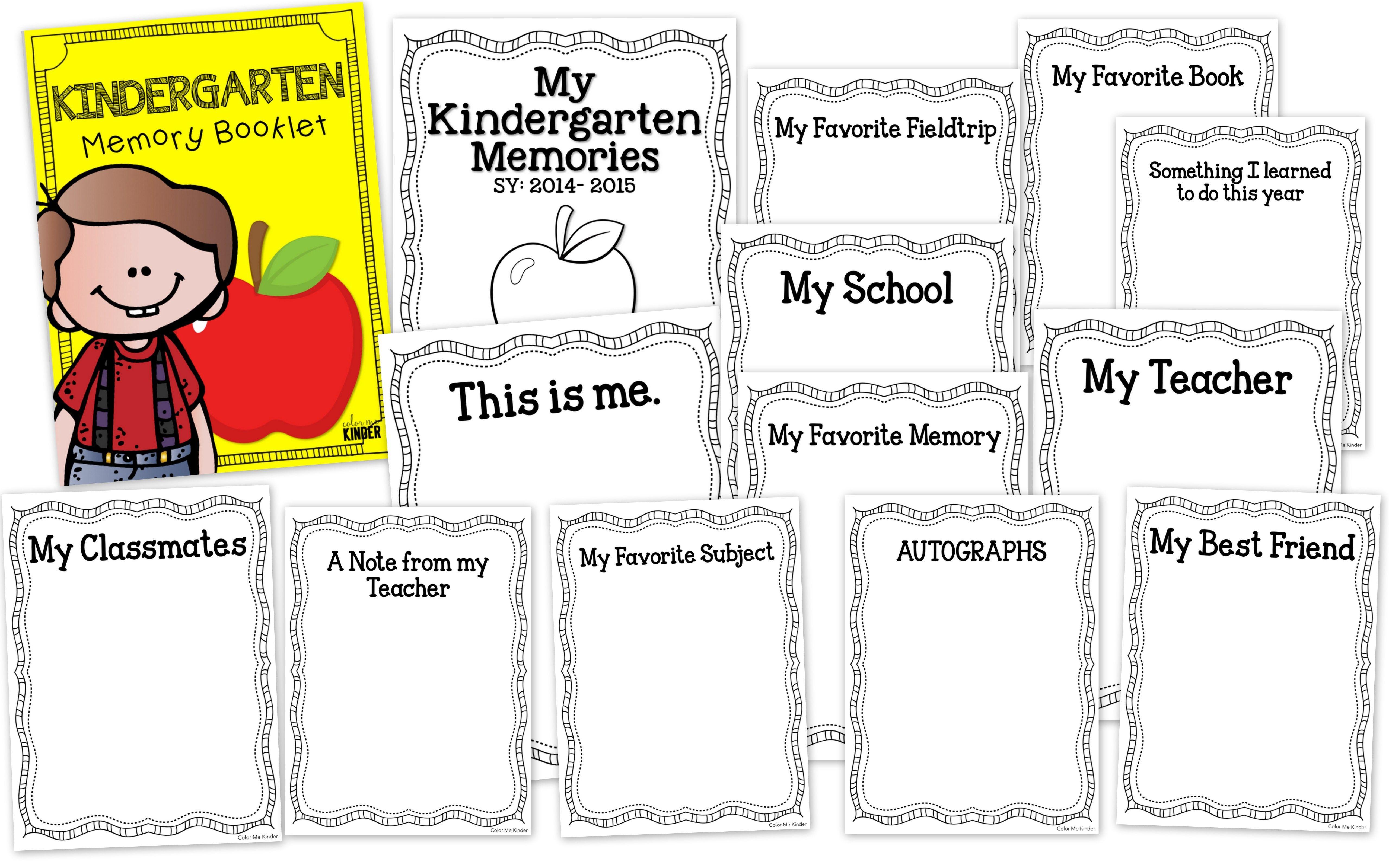 Kindergarten Memories Keepsake Booklet