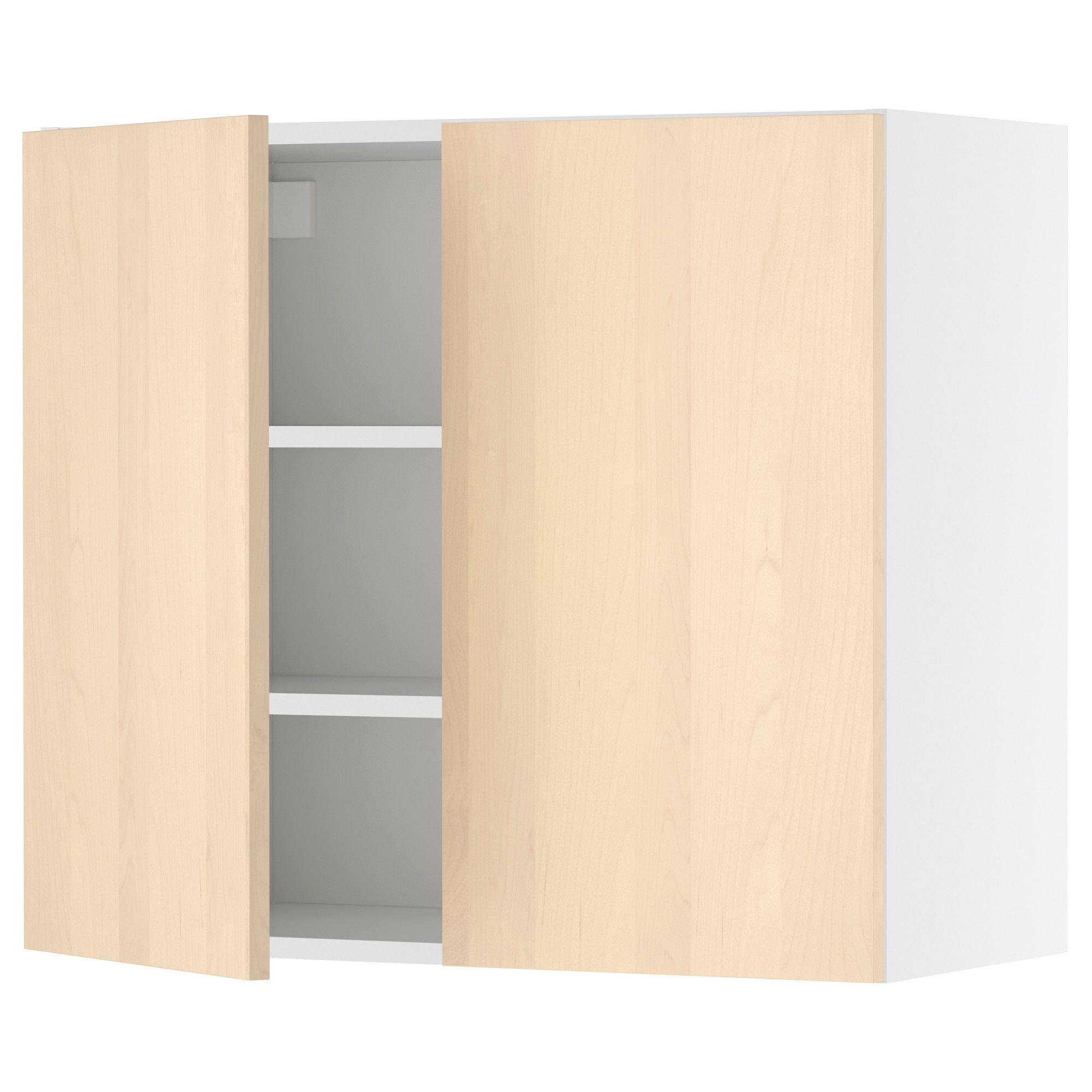 Faktum Wall Cabinet With 2 Doors Nexus Birch Veneer 60x70 Cm Ikea