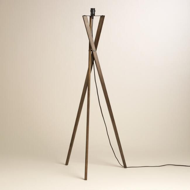 Walnut Wood Tripod Austin Floor Lamp Base - v2 | 113A Furnishings ...