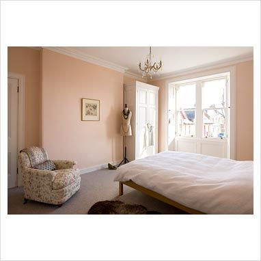 Wall color guest room not pink but a salmon color | Bedroom ...