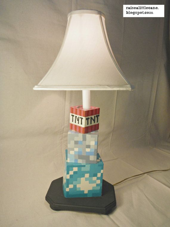 Custom minecraft lamp hand painted perfect for any kidtweenteen custom minecraft lamp hand painted perfect for any kidtweenteen and aloadofball Gallery