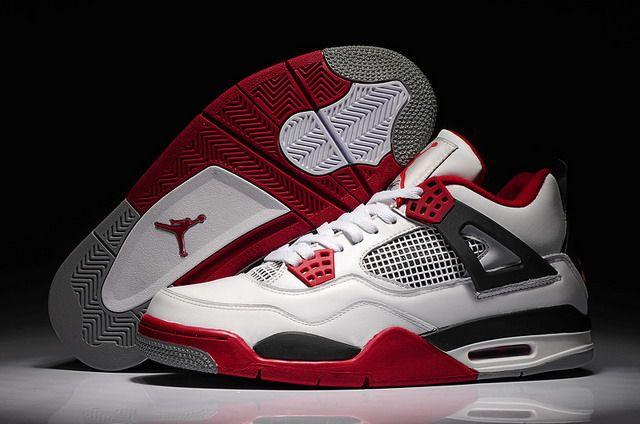 purchase cheap 2df2c b0fa0 Nike Air Jordan 4 Retro Mars Blackmon Mens Shoes White   Varsity Red   Black