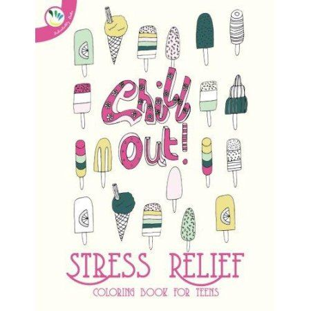 Stress Relief Coloring Book for Teens