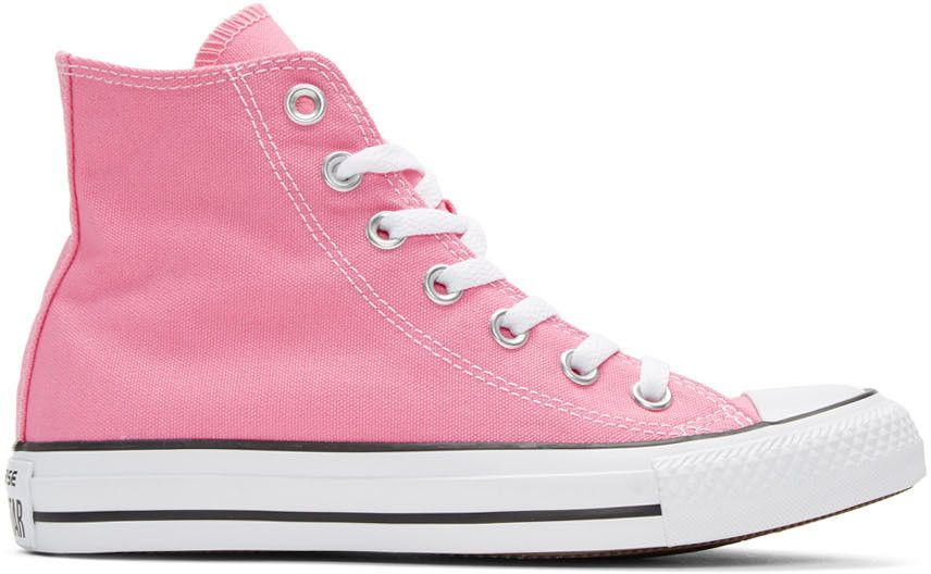 473bcbd3917f Converse - Pink Classic Chuck Taylor All Star OX High-Top Sneakers ...