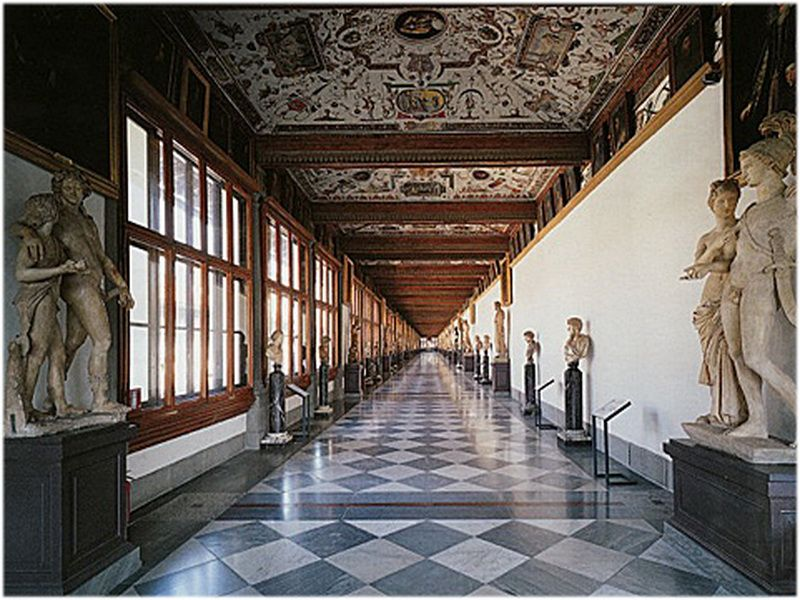 Galerie des offices florence italie architecture m u s e e pinterest architecture - Galerie des offices a florence ...