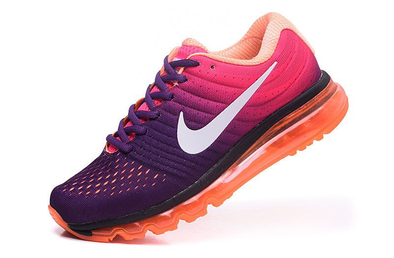 reputable site c003f 90a09 Nike Air Max 2017 Womens Purple Orange White Shoes