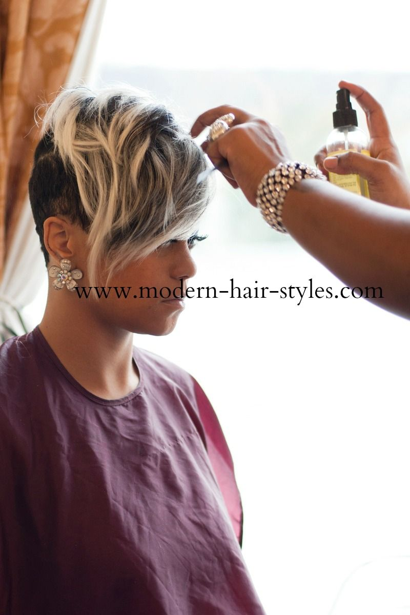 Self-styling of short hair