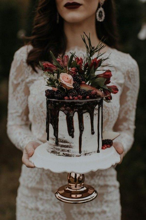 2020 Wedding Cake Trends: 25 Drip Wedding Cakes