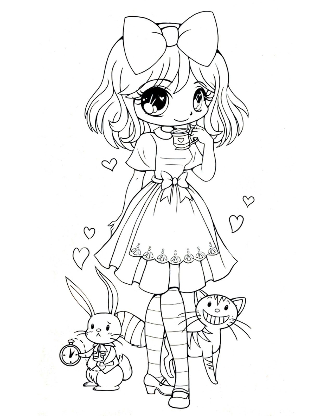 Coloring pages chibi - Find This Pin And More On Digi Stempels Quirky Artist Loft Sweet Lolita Coloring Pages