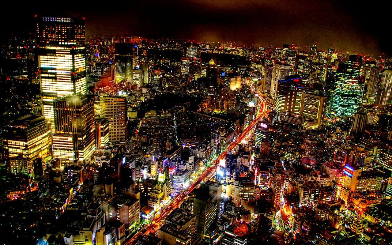 Tokyo Wallpaper Tokyo Night Japan Landscape Hdr Photography